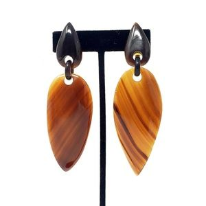 Gerda Lynggaard Monies Marbled Horn Drop Earrings